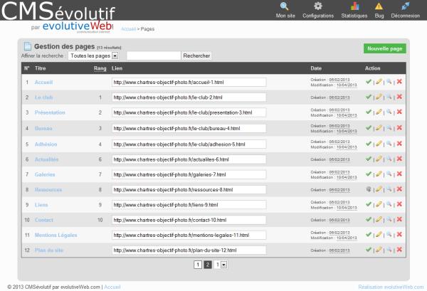 CMSévolutif, Système de gestion de contenu