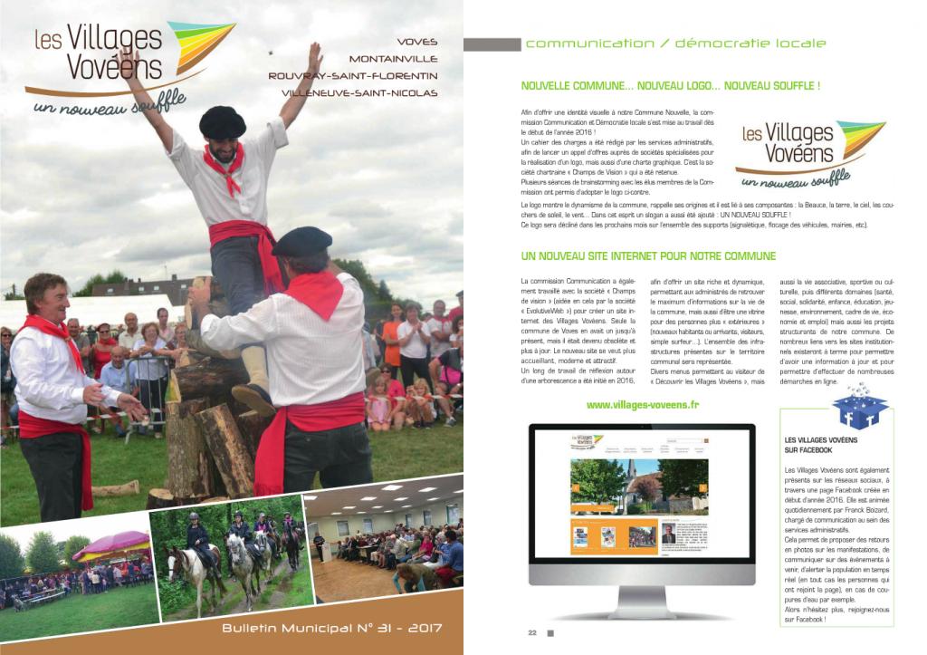 Parution dans le bulletin municpal 2017 des Villages Vovéens