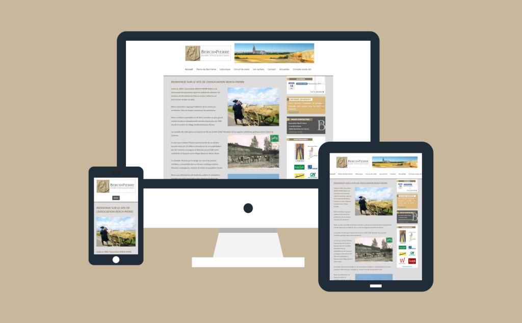 Refonte site internet de Berch-Pierre en 2017