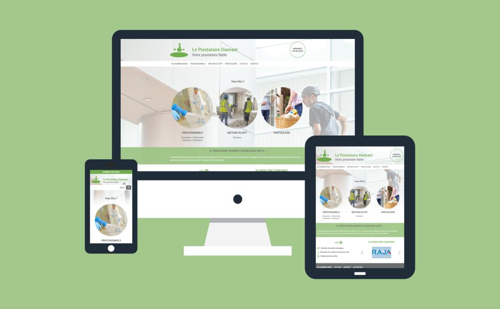 Création site internet du Prestataire Diamant en 2017