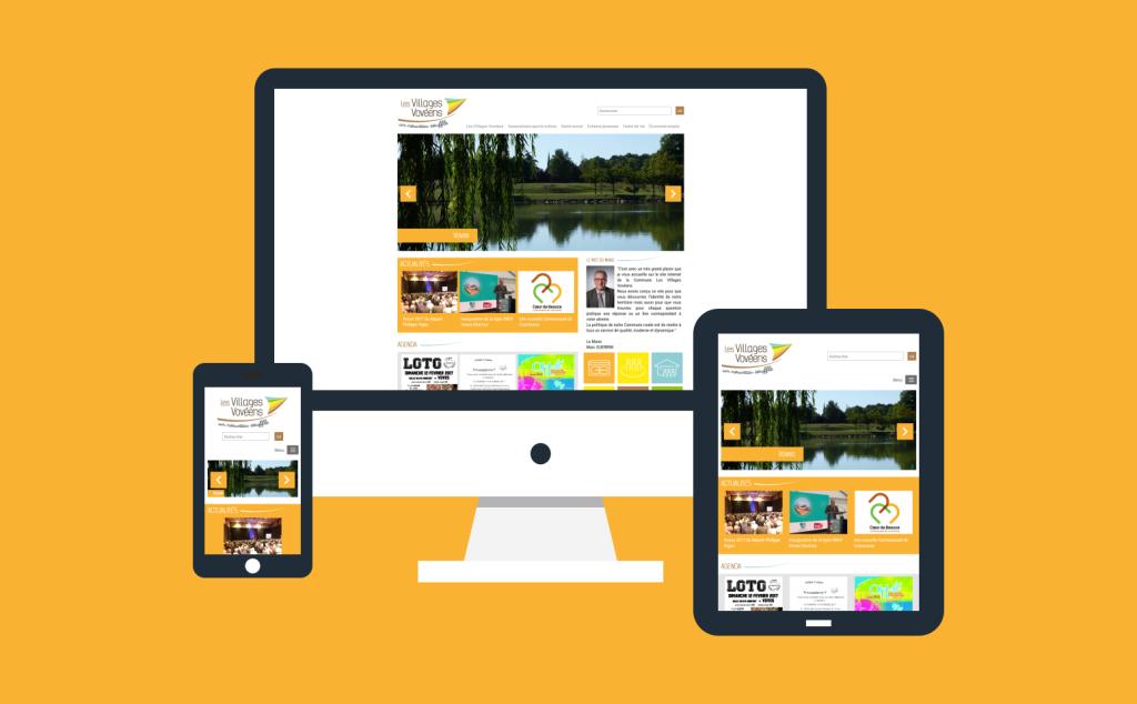 Création site internet Les Villages Vovéens en 2017