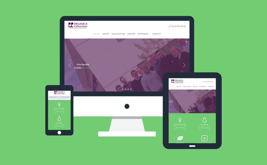 Refonte site internet de Delage & Couliou en 2017