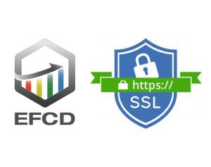 Activation de la connexion sécurisée en HTTPS pour le site internet de EFCD
