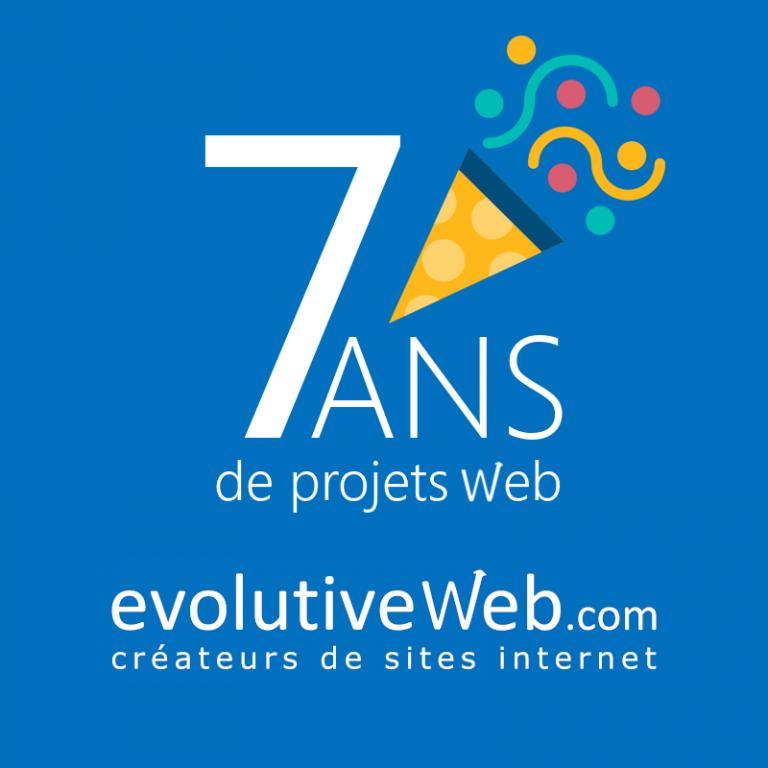 Votre agence web à Chartres evolutiveWeb.com fête ses 7 ans