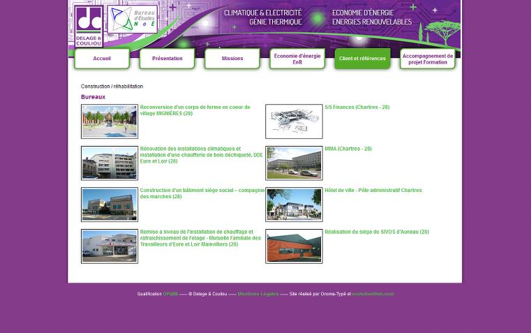 Ajout des pages catégories références clients Delage & Couliou