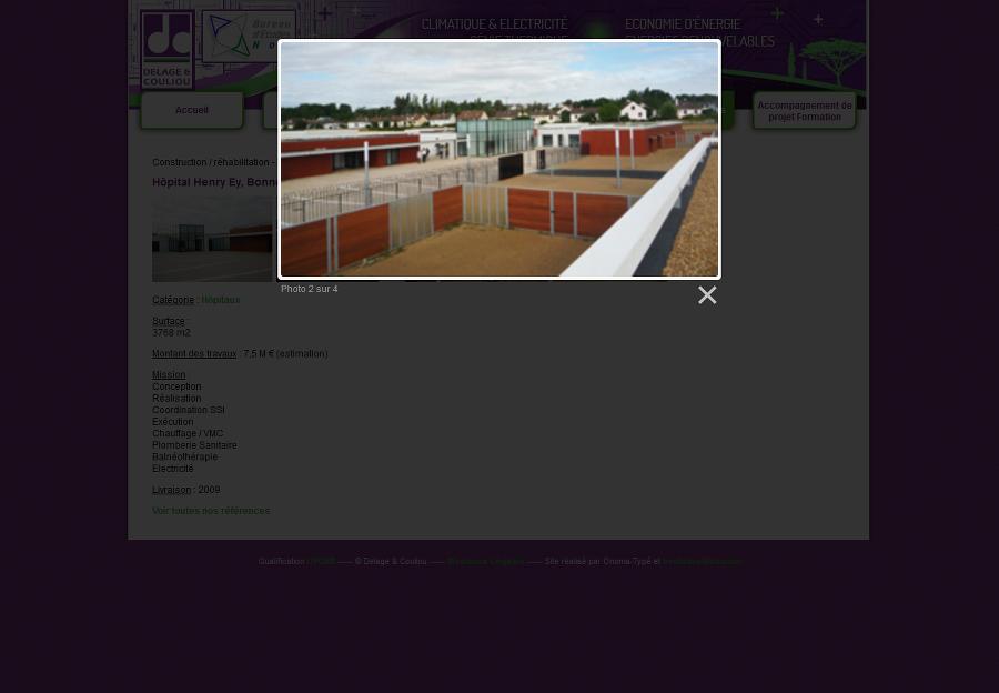 Ajouter d'un zoom sur les photos des références de Delage & Couliou