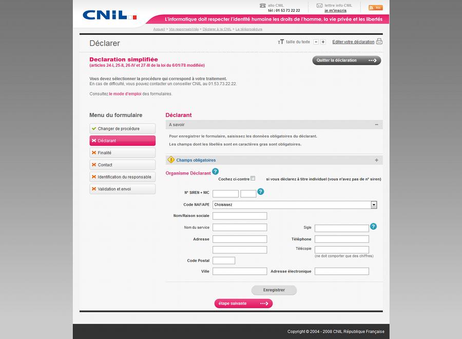Déclaration simplifiée à la CNIL pour les boutiques en ligne
