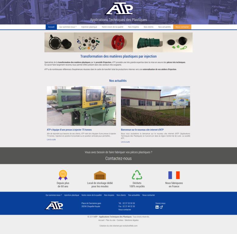 Refonte du site internet de ATP