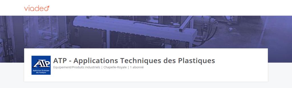 Page pro de ATP sur le réseau social Viadeo