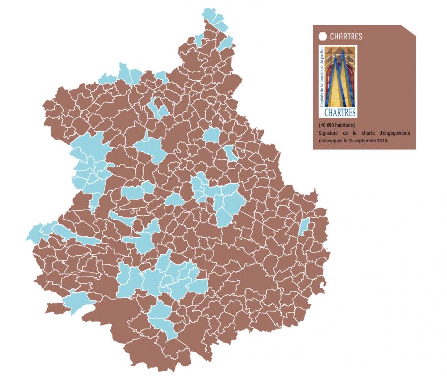Carte interactive sur le nouveau site internet d'Eure-et-Loir Nature