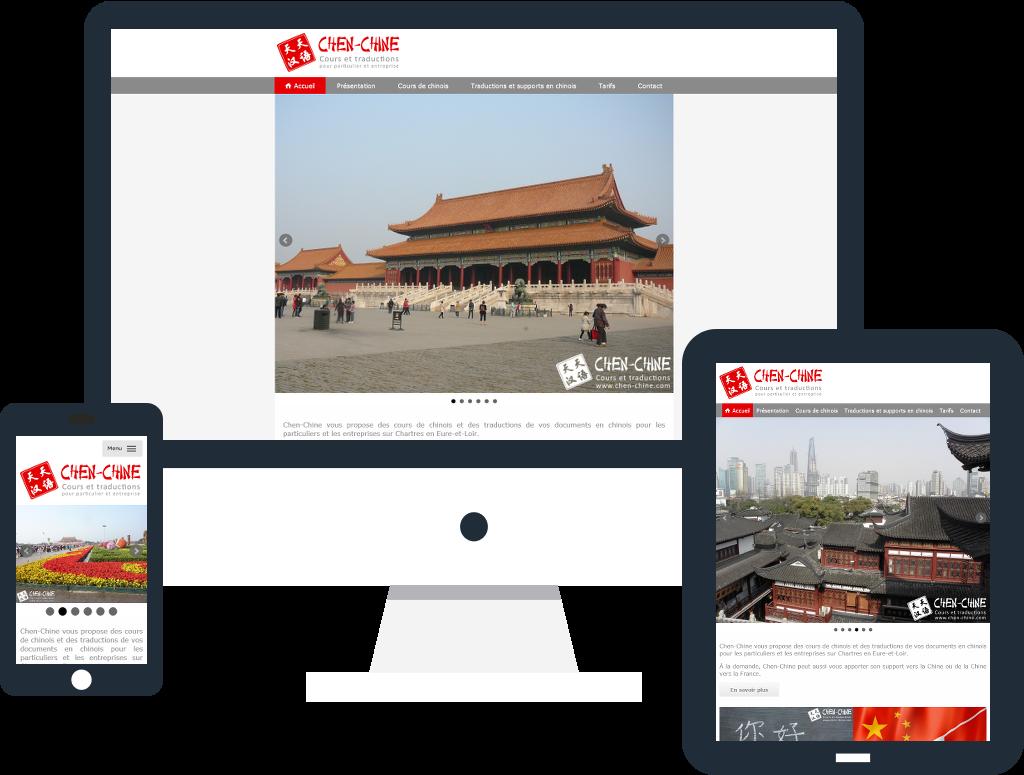 Création du site internet responsive de Chen-Chine à Chartres