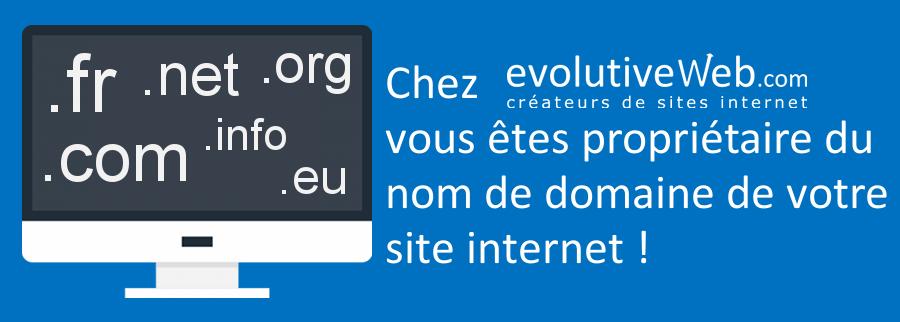Vous êtes propriétaire du nom de domaine de votre site internet