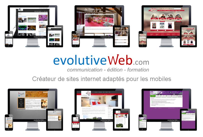 evolutiveWeb.com créateur de sites internet adaptés pour les mobiles