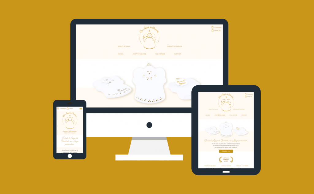 Création d'une boutique en ligne responsive avec PrestaShop pour Les Anges de Chartres
