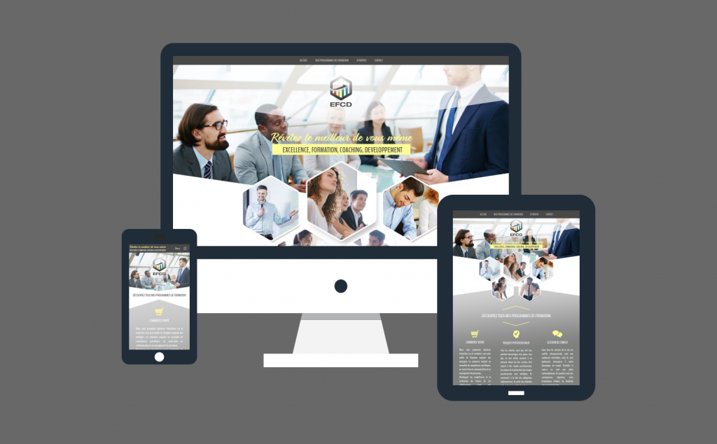 Création du site internet responsive pour EFCD