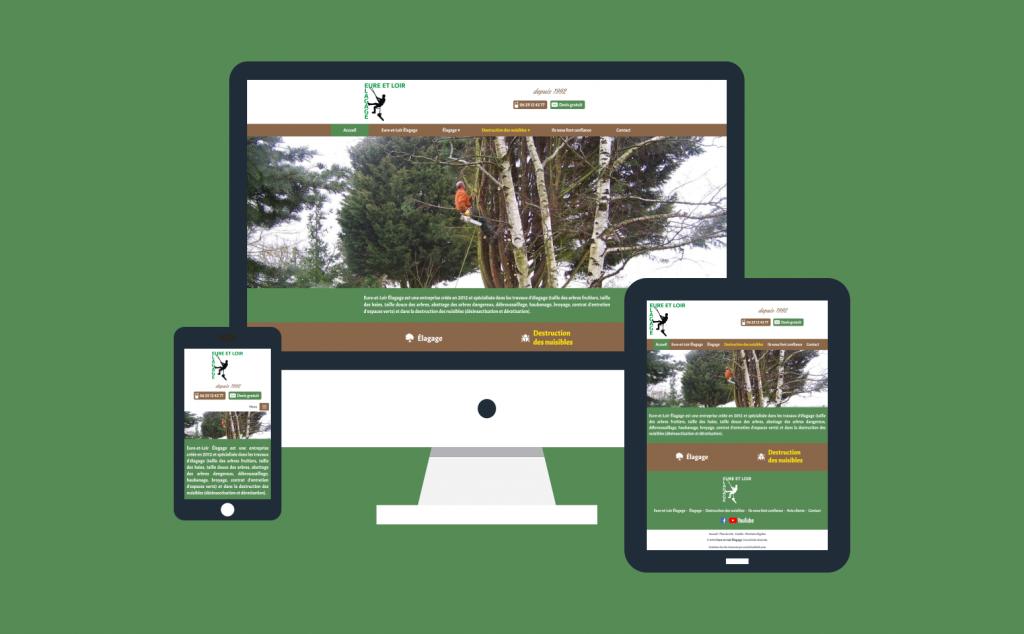 Création du site internet responsive d'Eure-et-Loir Élagage
