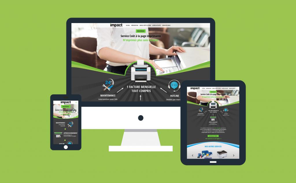 Création du site internet responsive pour la société Impact