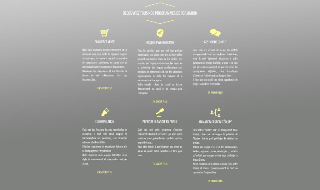 Liste des formations sur le site internet de EFCD