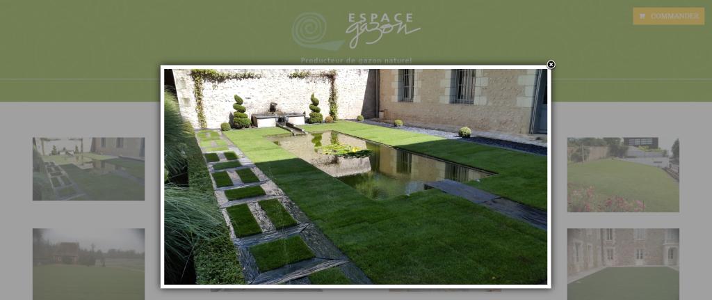 Galeries photos sur le site internet de Espace Gazon