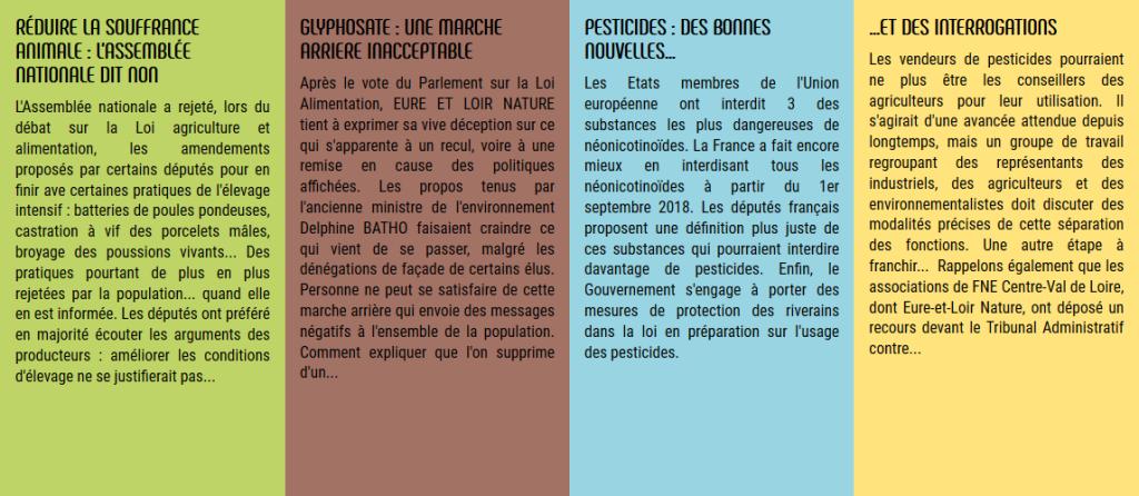 Dernières actualités sur le nouveau site internet d'Eure-et-Loir Nature