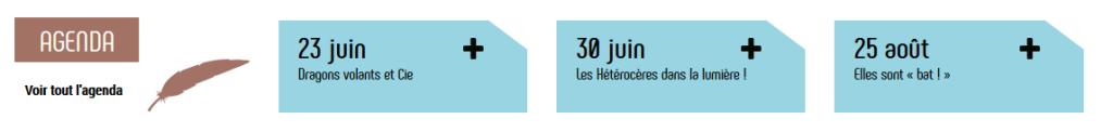 Derniers évènements de l'agenda sur le nouveau site internet d'Eure-et-Loir Nature