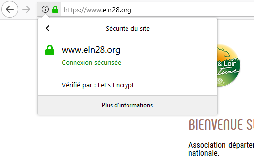 Connexion sécurisée en HTTPS sur le nouveau site internet d'Eure-et-Loir Nature