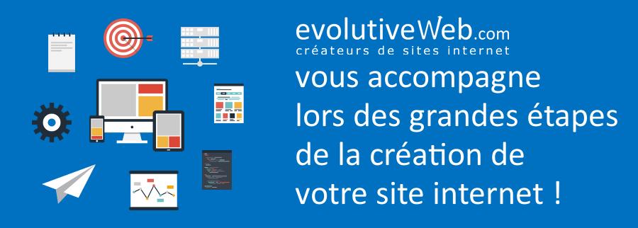 evolutiveWeb.com vous accompagne dans les grandes étapes de la création de votre site internet