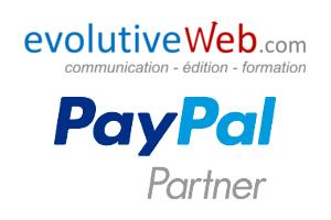evolutiveWeb.com partenaire de la solution de paiement sécurisé PayPal