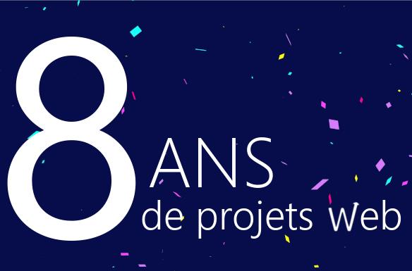 evolutiveWeb.com fête ses 8 ans de projets web