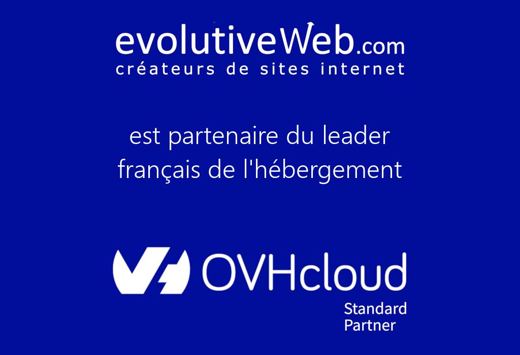 evolutiveWeb.com agence web partenaire de OVHcloud
