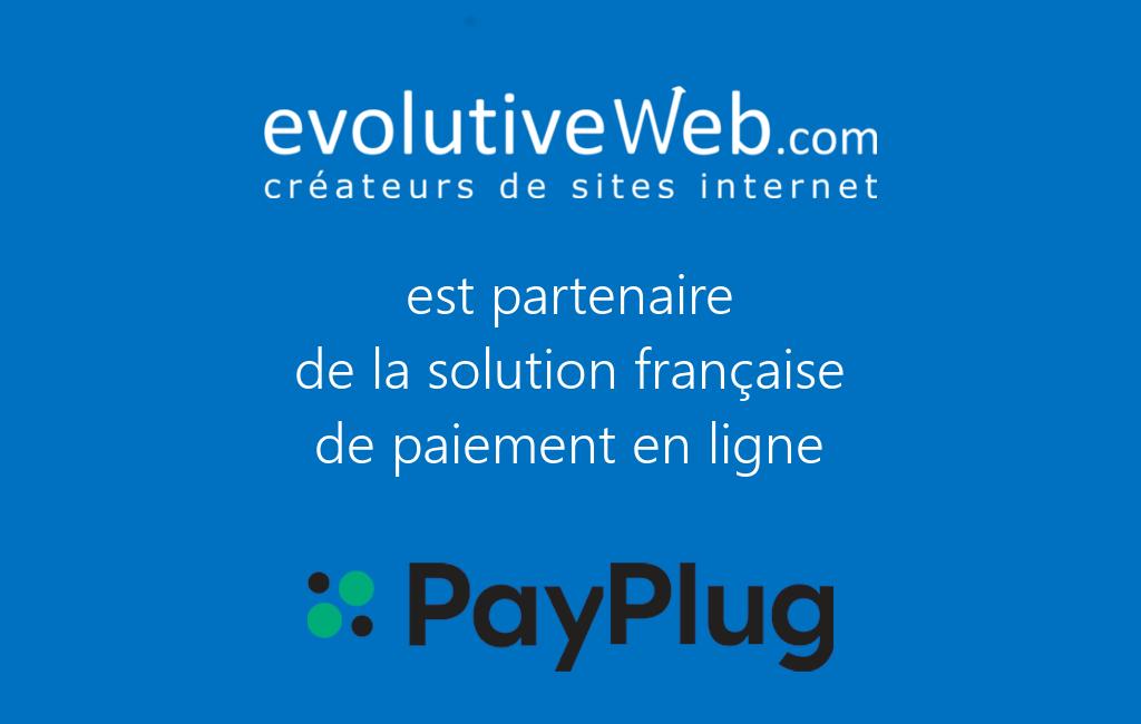 evolutiveWeb.com est partenaire de PayPlug