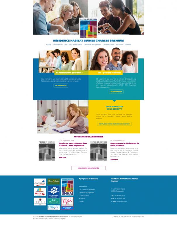 Site internet de la Résidence Habitat Jeunes Charles Brennus à Châteaudun