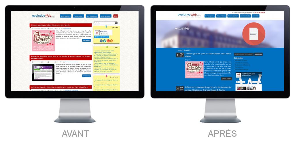 Intégration du blog sur notre site internet