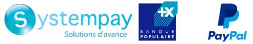 Paiement en ligne sécurisé via Systempay de la Banque Populaire et PayPal sur la boutique en ligne de Cavaal