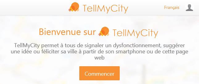 Application Tell My City sur le site internet des Villages Vovéens