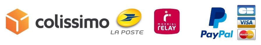 Livraison en Colissimo de La Poste et Mondial Relay ainsi que la paiement sécurisé par PayPal sur la boutique en ligne Les Anges de Chartres