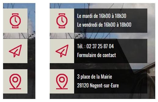 Accès rapide aux coordonnées et horaires de la mairie sur le site internet de Nogent-sur-Eure
