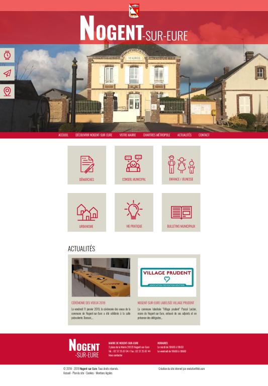 Site internet de la mairie de Nogent-sur-Eure