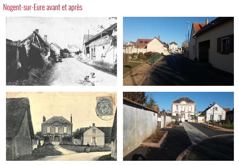 Photos avant et après sur le site internet de Nogent-sur-Eure