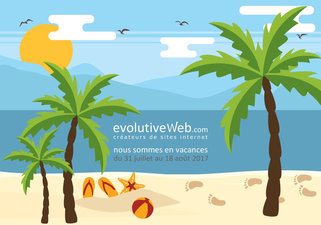 Votre agence web en Eure-et-Loir prend quelques jours de vacances