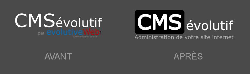 Nouveau logo moderne pour le CMSévolutif