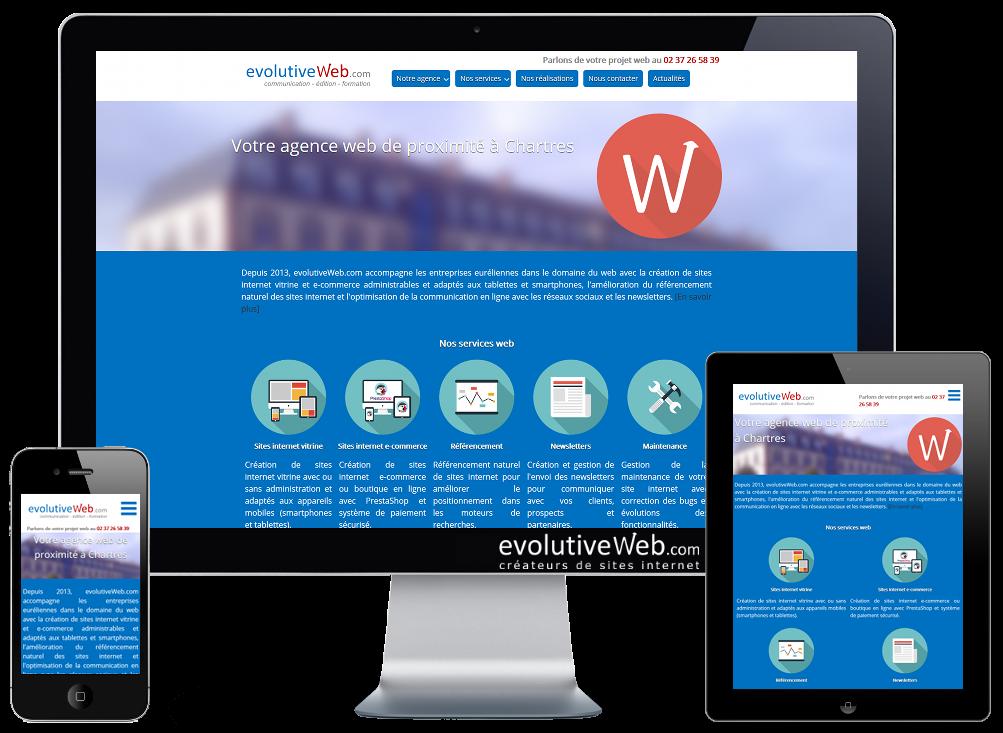 Nouveau site internet pour notre agence web à Chartres