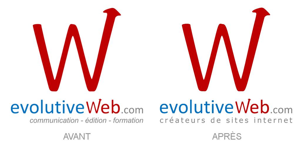 Nouveau slogan sur le logo de notre agence web