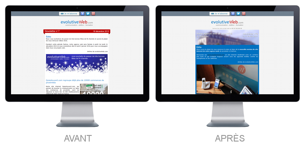 Nouveau design pour nos newsletters