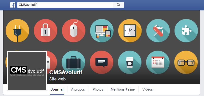 Page Facebook dédiée au CMSévolutif