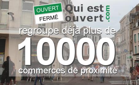 Quiestouvert.com regroupe déjà plus de 10000 commerces de proximités