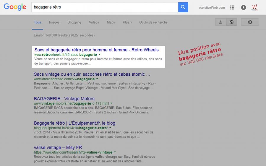 Référencement web première position dans Google