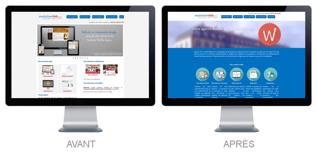 Refonte du site internet de notre agence web à Chartres