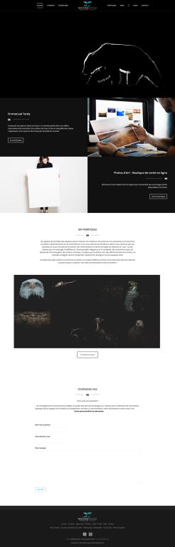 Page d'accueil du nouveau site internet du photographe Emmanuel Tardy