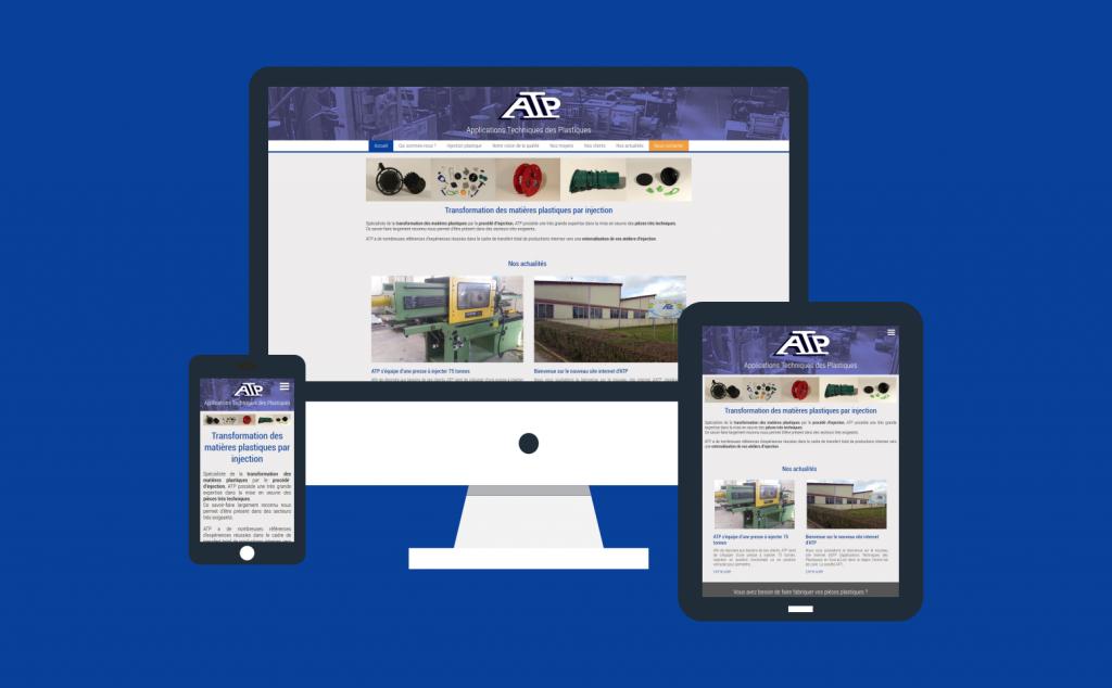 Création site internet responsive pour la société ATP